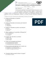 Evaluación de Lenguaje y Comunicación La Puerta Olvidadad 2º
