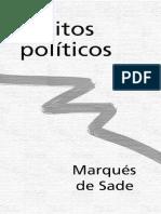 Sade, Marqués de - Escritos políticos [1791 - 1799]