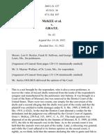 McKee v. Gratz, 260 U.S. 127 (1922)
