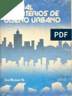 Manual de Criterios de Diseño Urbano - Jan Bazant S.