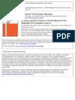 Separation & Purification of Crude Glycerol