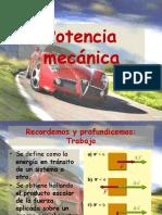 Potencia Mecánica y Cantidad de Movimiento
