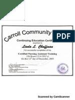 certificates cna