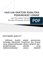 Faktor-faktor Kualitas Perangkat Lunak