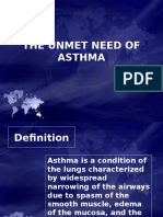 The Unmet Need of Asthma