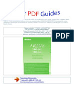 Manual Do Usuário Yamaha Arius Ydp 161 p