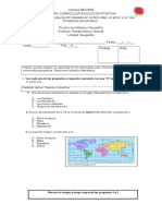 prueba geografia 4° bàsicoA