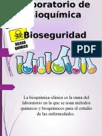 Bioseguridad en el laboratorio de bioquimica