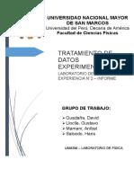 UNMSM LABORATORIO DE FÍSICA I - INFORME N°2