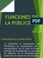Funciones de La Publicidad