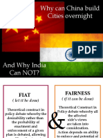 India v/s china Why India Cannot Built Cites Overnight