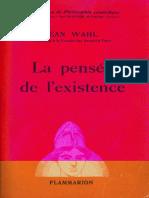 Jean Wahl La Pensee de Lexistence
