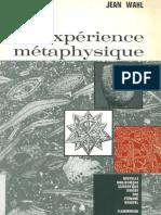 Jean Wahl Lexperience Metaphysique 1
