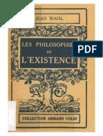 Jean Wahl Les Philosophies de Lexistence