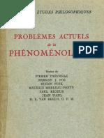 Jean Wahl Problemes Actuels de La Phenomenologie 1