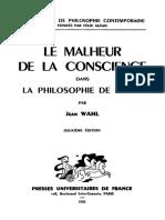 Jean Wahl Le Malheur de La Conscience Dans La Philosophie de Hegel 3