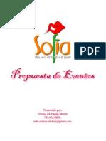 Propuesta de Eventos Sofia
