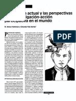 SITUACION ACTUAL Y LAS PERSPECTIVAS DE LA INVESTIGACION ACCION PARTICIPATIVA EN EL MUNDO (copia).pdf