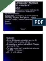 Falsa Suposicion y Metodo Del Cangrejo