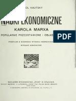 Nauki ekonomiczne Karola Marksa - Karl Kautsky
