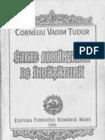 CORNELIU VADIM TUDOR-CARTE ROMANEASCA DE INVATATURA-1992-Prefata Edgar Papu