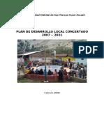 Plan de desarrollo concertado San Marcos