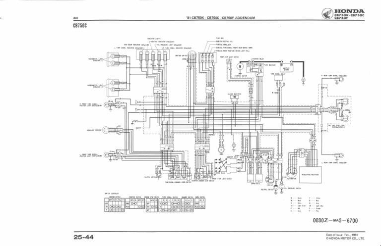 Wiring Diagram Cb750c 81 82  1  Pdf