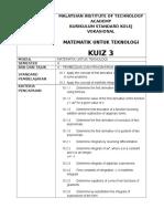 Kuiz 3 (Pembezaan Pengamiran)
