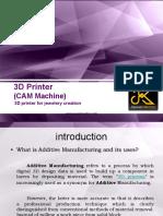3D Printer for Jewelery Creation