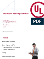 Fire Door Code Requirements (Donald Bliss, NFPA) (Alfredo Ramirez, UL)