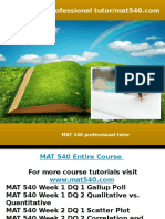 MAT 540 professional tutor