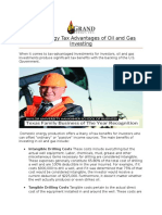 Grand Energy Tax Advantages of Oil and Gas Investing
