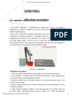 PH Sensor Calibration Procedure