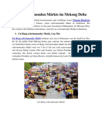 Schwimmender Markte Im Mekong Delta