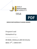 Term Paper of Services