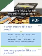 Tax Saving Tricks for NRI Property Management
