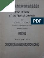 Mann, Thomas - Theme of the Joseph Novels (GPO, 1943)