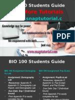 BIO 100 Apprentice tutors/snaptutorial