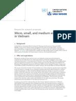 RFRP Micro Small and Medium Enterprises in Vietnam