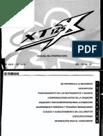 Manual de Usuario Yamaha XT 125 X R