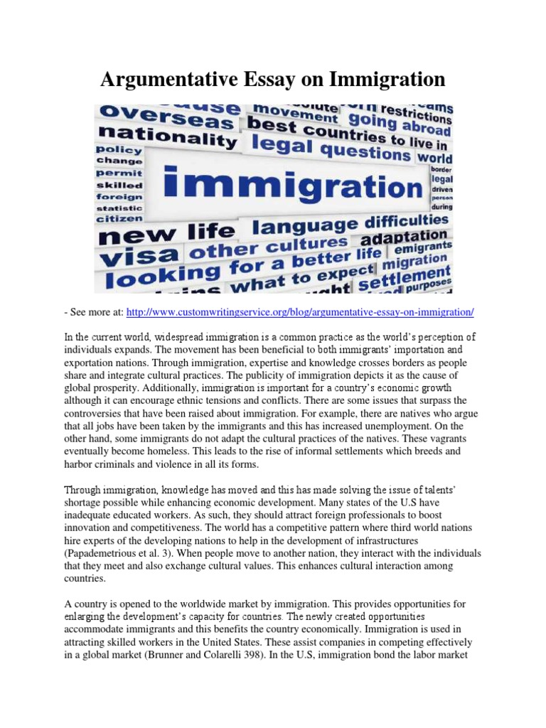 Essays on immigration from mexico to united states