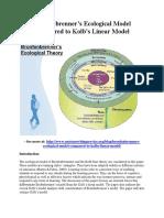 Bronfenbrenner's Ecological Model Compared to Kolb's Linear Model.pdf