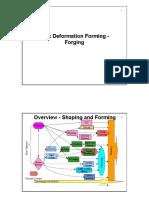 Bulk Deformation Forming - Forging