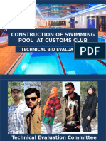 Construction of Swimming Pool at Customs Club