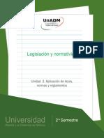 Unidad 3. Aplicacion de Leyes, Normas y Reglamentos