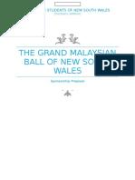 The Grand Malaysian Ball Sponsorship Proposal