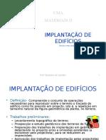 2 Implantaccca7acc83o de Edificc81cios Istea