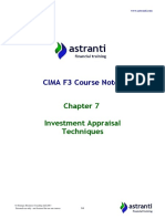 CIMA F3 Notes - Financial Strategy - Chapter 7