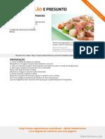 Salada de Melão e Presunto SaborIntenso