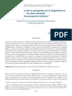 Astarita, Martín - Los Usos Políticos de La Corrupción en Los Años Noventa. Una Perspectiva Histórica